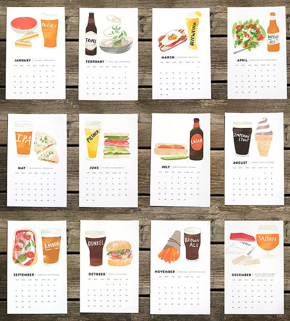 2014 Beer/Food Calendar by RedCruiser