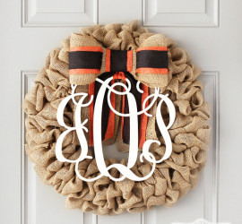 Halloween Wreath by Genevieve Designs