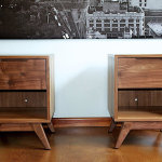 Handmade Mid-Century Modern Walnut Sidetables by moderncre8ve