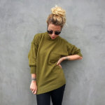 Vintage 90's Army Green Sweater by Highway Children