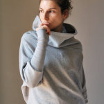 Grey Open Neck Sweater by kupukupuapparel