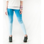 Blue Cottom Ombre Yoga Pants by ForgottenCotton