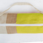 Yellow Burlap Yoga Bag by AmoreBeaute