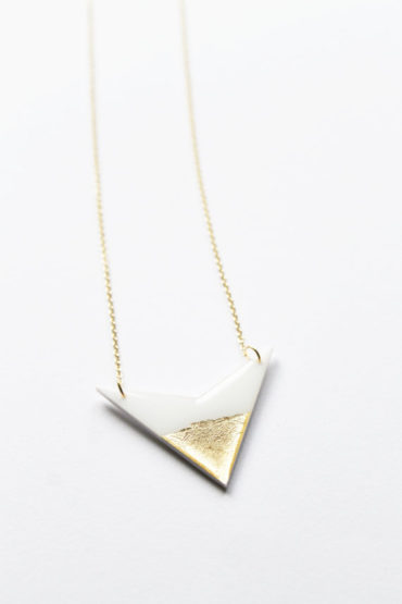 gold dipped minimalist necklace