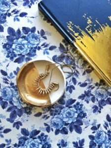 GOLD DIPPED Jewelry Dish