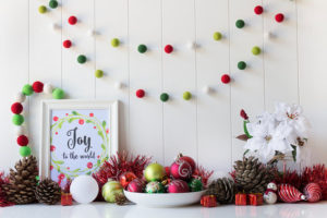 Handmade Christmas Felt Ball Garland by TheFeltingDorcas