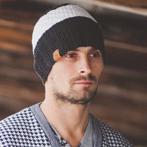 Men's Knit Hat by MrPomPon